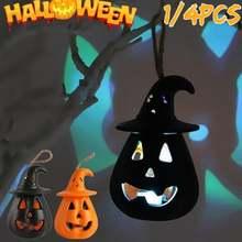 Светодиодный светильник в виде тыквы для Хэллоуина беспламенный