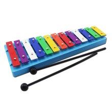 Новая деревянная музыкальная игрушка 13 игрушечный ксилофон музыкальный инструмент ОРФ перкуссия Раннее Образование Музыкальные игрушки
