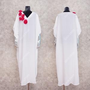 Image 5 - Oversize Women Summer Beachwear Long Kaftan Beach Dress White Cotton Tunic Bathing Suit Cover ups Bikini Wrap Cover up #Q871