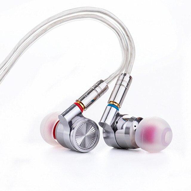 Tinhifi T4 耳イヤフォン 10 ミリメートル CNT ミリメートルダイナミックドライバハイファイ低音イヤホン金属 3.5 ミリメートルイヤホン MMCX ケーブル錫 P1 T3 T2 プロ BA5