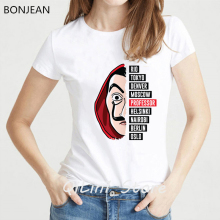 vogue funny t shirts graphic tees women La Casa De Papel Tshirt femme Money Heist Tees TV Series female t-shirt streetwear