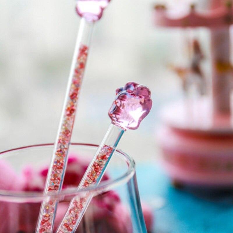 NEW Creative Sakura Cat Claw Glass Muddler Stirring Rod Stirrers Decoration Fathion Gift Cute Lover Gift Magic Sticks