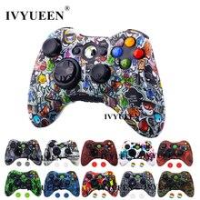 IVYUEEN dla Microsoft Xbox 360 przewodowy/kontroler bezprzewodowy silikonowa guma ochronna skrzynki pokrywa skóry uchwyty akcesoria do gier