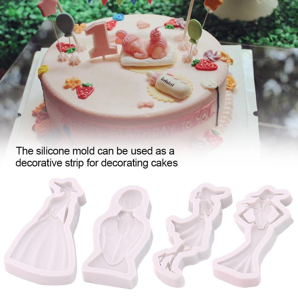 DIY Silicone Mold Chocolate Cake Mold Fondant Cake Silicone Mold
