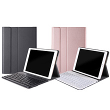 Besegad Fashion Detachable PU Leather Backlit Bluetooth Wireless Keyboard Case Cover for Ap