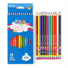 цена на 12Pcs/box Unicorn Wooden Colored Pen Set Stationery for School Supplies 12 Colors Pencil Artist Painting Drawing