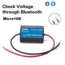 Lancol Micro10D yeni güncellenmiş Mini dijital voltmetre Volt gerilim metre telefonu ekran için Bluetooth ile android sadece stokları