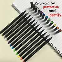12 Color marker Hook Line Pen Gel Ink Pen Fiber Pen Student Painting Special-purpose Signature pens pencils writing supplies