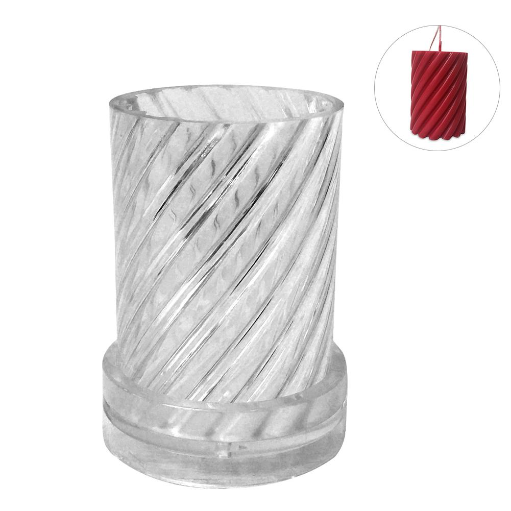 1pc Plastic Candle Mold Manual Candle Making Spiral Shape Model Wax Soap Molds DIY Candle Making Craft Moulds 6.5x11.3cm