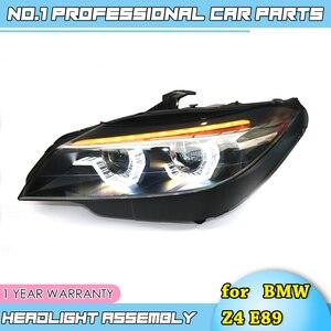Image 3 - Faros led para coche BMW, faros delanteros LED para coche BMW Z4 E89 2006 2018, ojos angulares led drl H7 hid, lente bi xenón, haz bajo