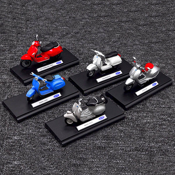 Welly 1/18 VESPA Scooter Motorcycle Motorbike Diecast Display Model Toy For Kids Boys Girls maisto 1 12 ktm 1290 super duke superduke r motorcycle motorbike diecast display model toy for kids boys girls