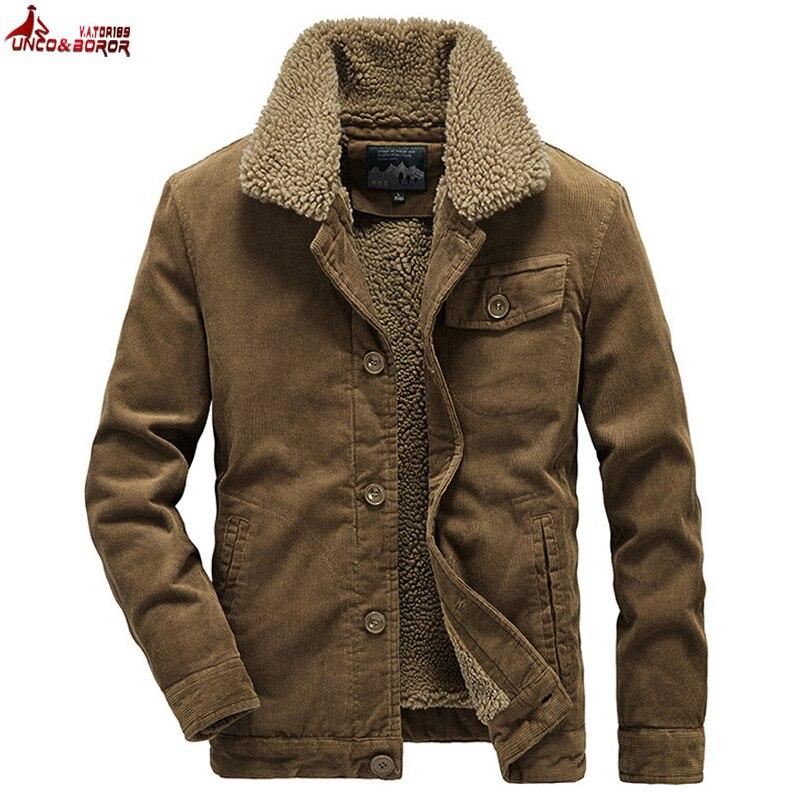 Casaco de inverno masculino casaco de veludo quente casacos e casacos outwear blusão velo algodão jaqueta outwear multi-bolso roupas masculinas