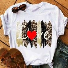 Женская футболка с леопардовым принтом vogue модная Сексуальная