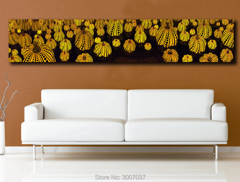 Large Size Pumpkin Lantern Yayoi Kusama Oil Painting on Canvas for Wall Art Oil Picture for Bedroom Living room Home Decoration