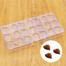 21 Heart Leaf Polycarbonate PC Chocolate Mold DIY 3D Lollipop Fondant Candy Cake Molds Kitchen Baking Pastry Tools