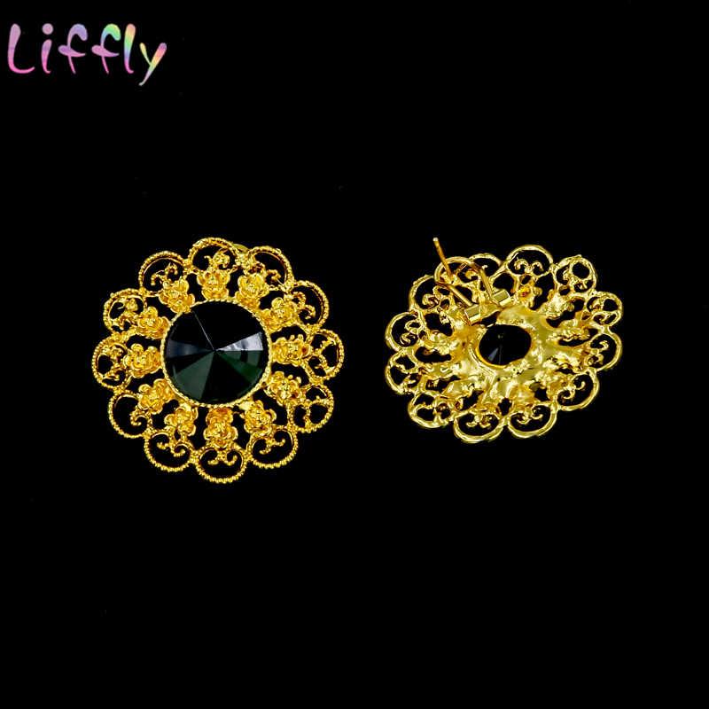 Mode Schmuck Sets Dubai Gold Schmuck Sets für Frauen Afrikanische Halskette Ohrringe Ring Armband Brautjungfer Schmuck Sets