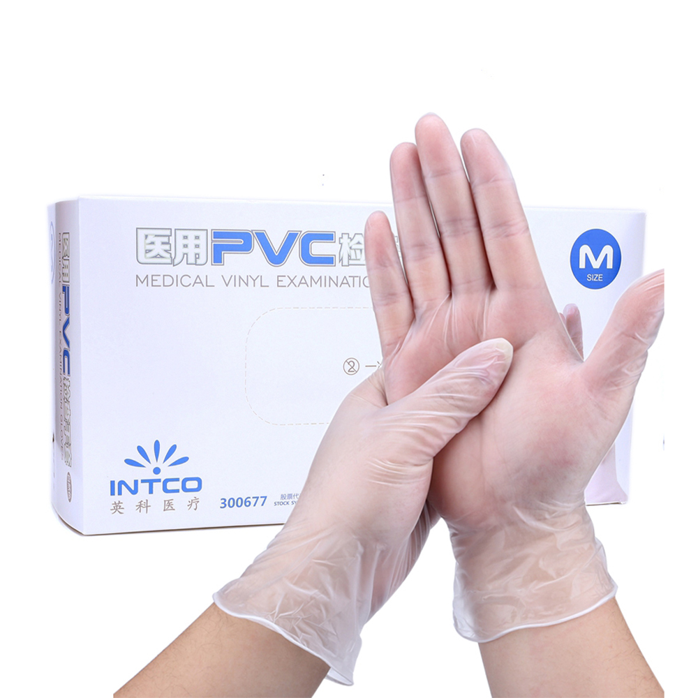 100pcs Disposable Latex Gloves White Non-Slip Acid And Alkali Laboratory Rubber Latex Gloves Household Cleaning Products