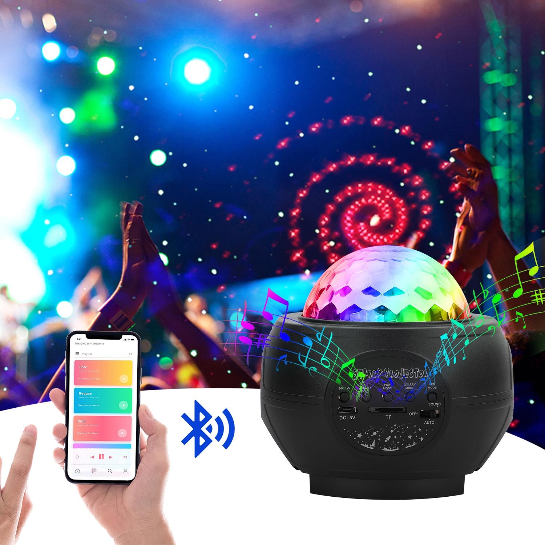Uking king bluetooth bola mágica disco luz alto-falante de controle de som automático efeito de iluminação palco com controle remoto clube festa mostrar