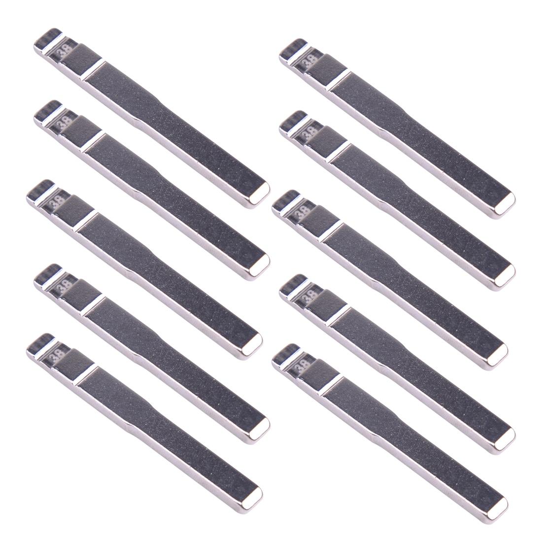 Beler Silver 10pcs 58# Uncut Flip KD Remote Lot Key Blade Blank Fit For Citroen Peugeot VA2