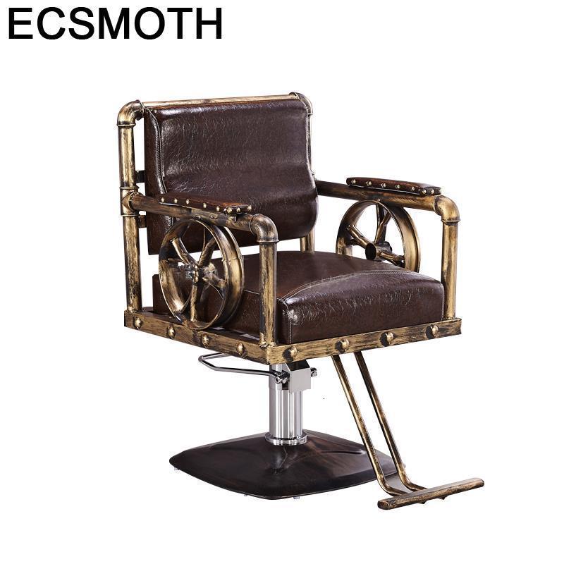 Cabeleireiro Sessel Hair Stoelen Fauteuil Barberia Chaise Furniture Silla Mueble De Barbearia Shop Salon Barbershop Barber Chair
