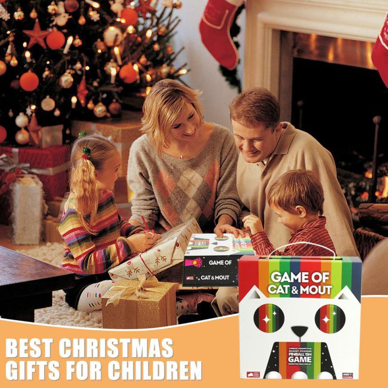 Mini gioco da tavolo di giocattoli per gatti e bocca tavolo da ballo con fionda veloce famiglia gioco interattivo genitore-figlio per regali di compleanno di natale