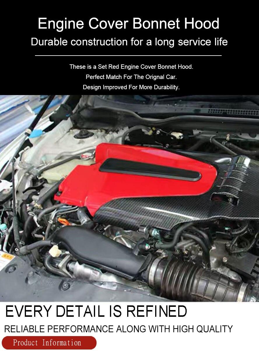 2018 Honda Civic Engine Splash Shield : honda, civic, engine, splash, shield, Wooeight, Carbon, Fiber, Style, Engine, Cover, Bonnet, Decorative, Honda, Civic, Accord, 2018|Engine, Bonnets|, AliExpress