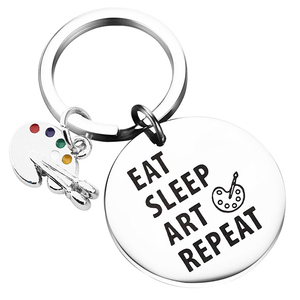 Художественная краска для художника, подарок для школьника, подарок на выпускной, «Eat Sleep Art Repeat Paint ing Girl», Подарочная Палитра для рисования, б...