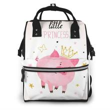 Mummy Maternity Nappy Bag Little Princess Pig Large Capacity Nappy Bag Travel Backpack Nursing Bag for Baby Care(China)