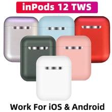 Inpods 12 esporte sem fio fone de ouvido bluetooth carregamento toque para iphone xiaomi huawei samsung bluetooth 5.0