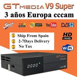 1080P Full HD GT media V9 Super Europe Cline for 3 Years Satellite TV Receiver H.265