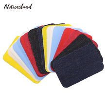Mixed 20pcs Jeans Patch Iron On Patches Repair Elbow Knee Denim Small Patches for Clothes DIY Stickers Sewing Accessories