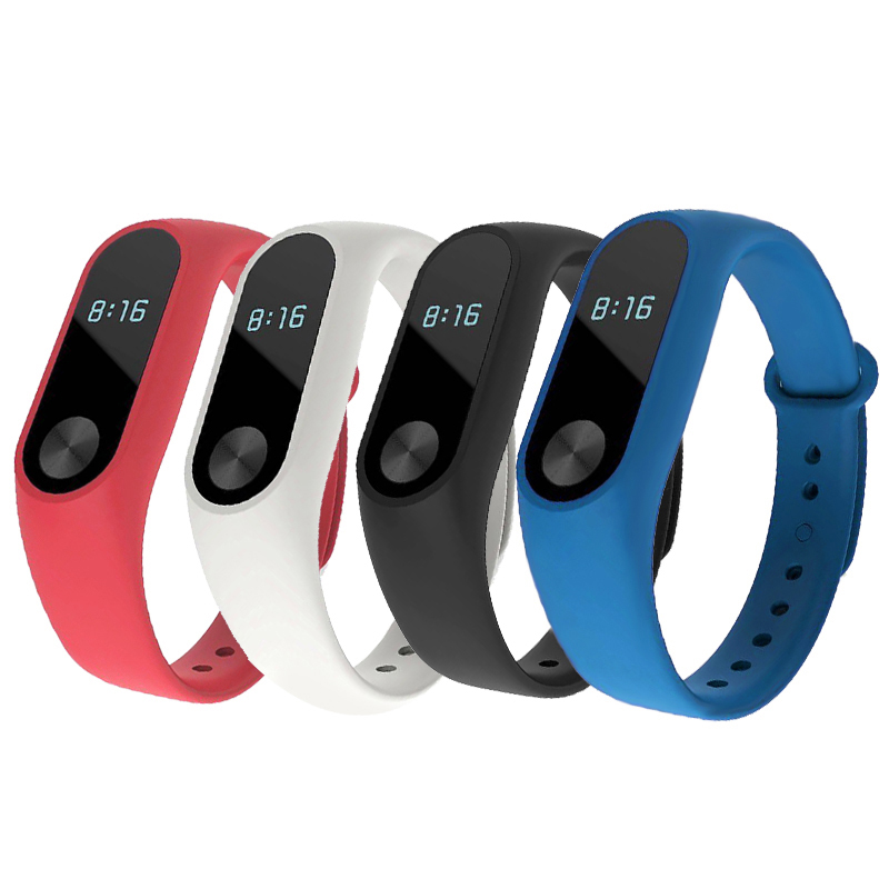 Durable Colorful TPU Wrist Strap Pedometer Bracelet 5 Colors Replacement Watchband Band 2 Wristbands Smart Bracelet