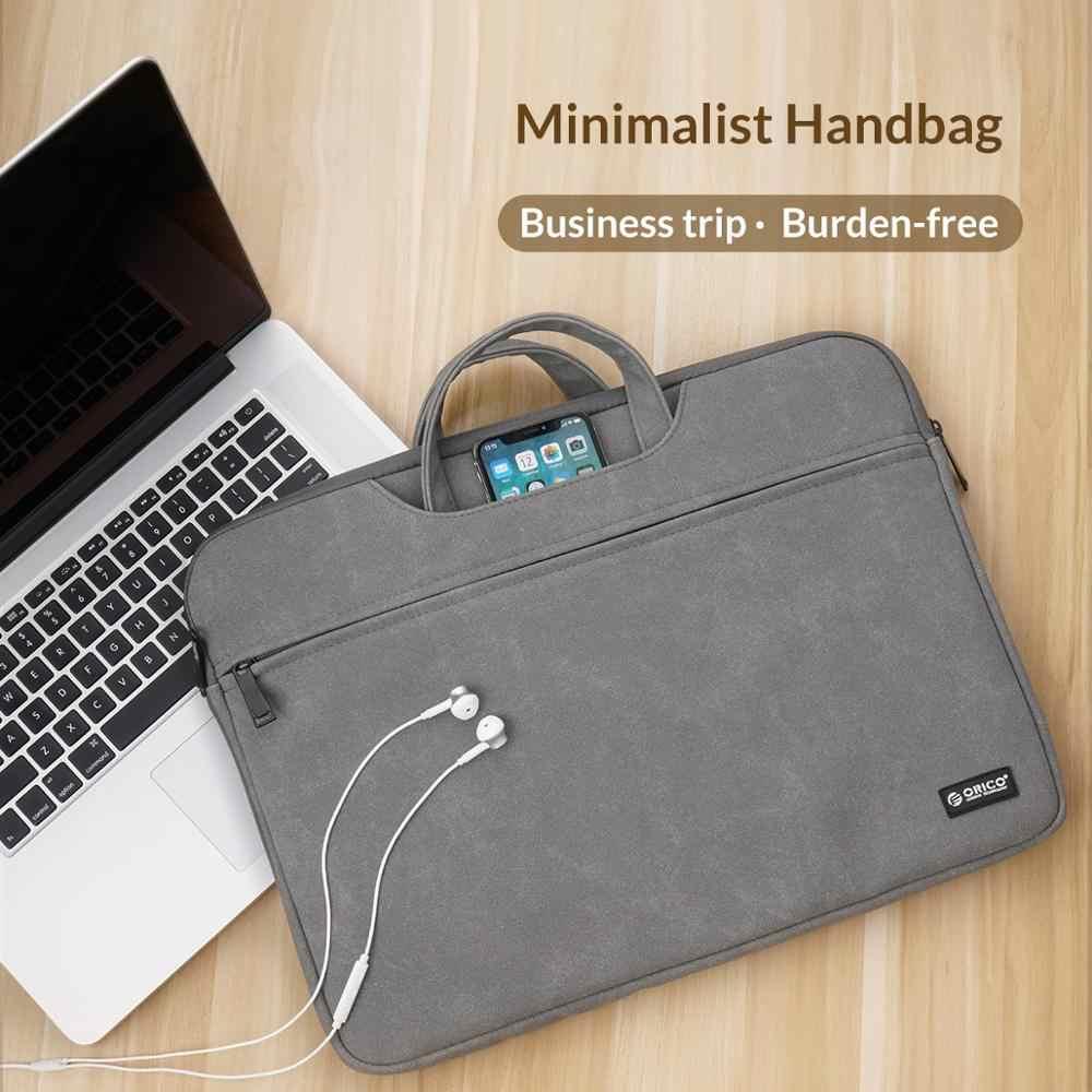 Orico Laptop Sleeve Bag Tas Case untuk Macbook Air Pro 13.3 15.6 Notebook Pelindung Cover UNTUK Dell Acer Bisnis Tas Tangan