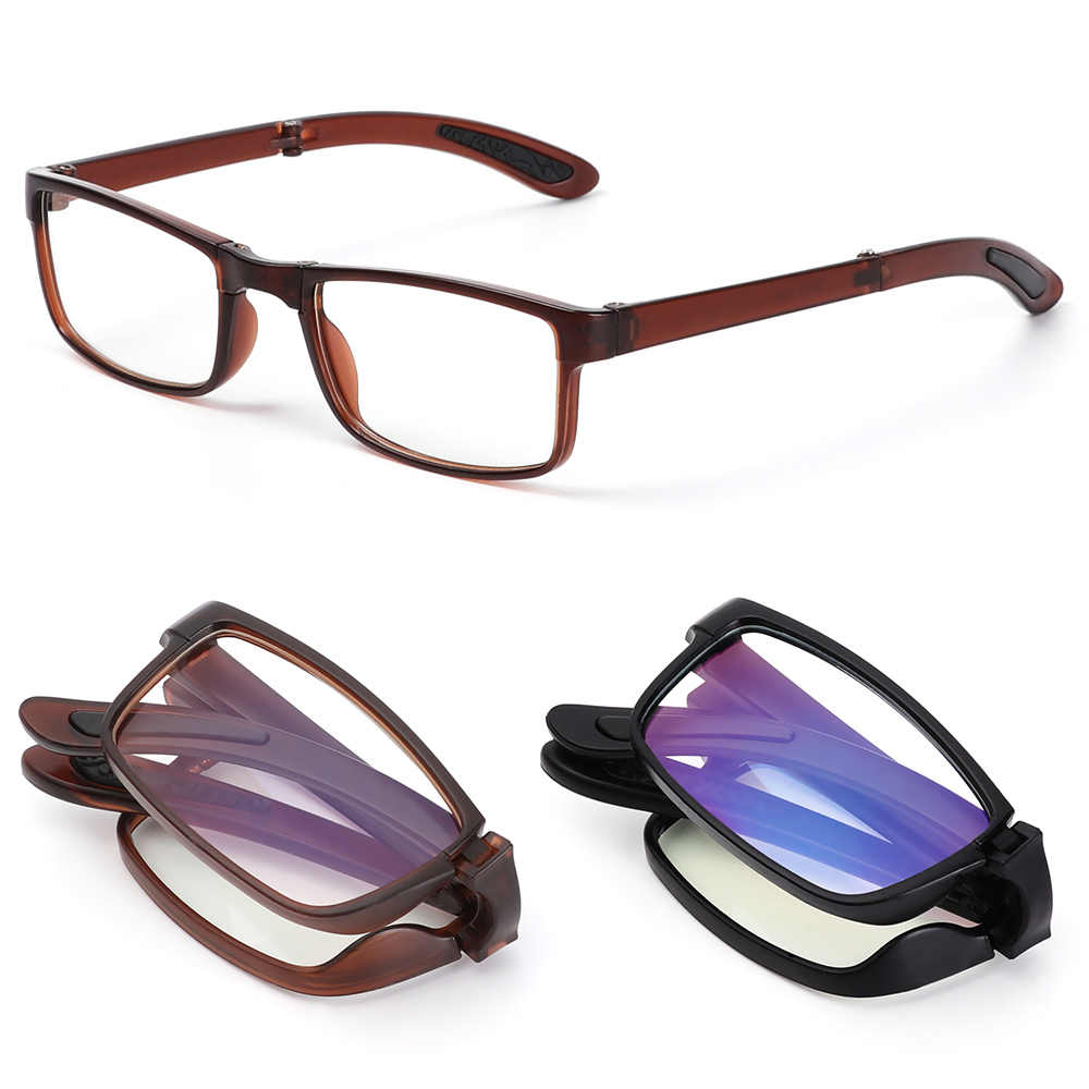 Urltra-gafas de lectura plegables, gafas de presbicia antifatiga portátiles con dioptrías + 100 ~ + 400
