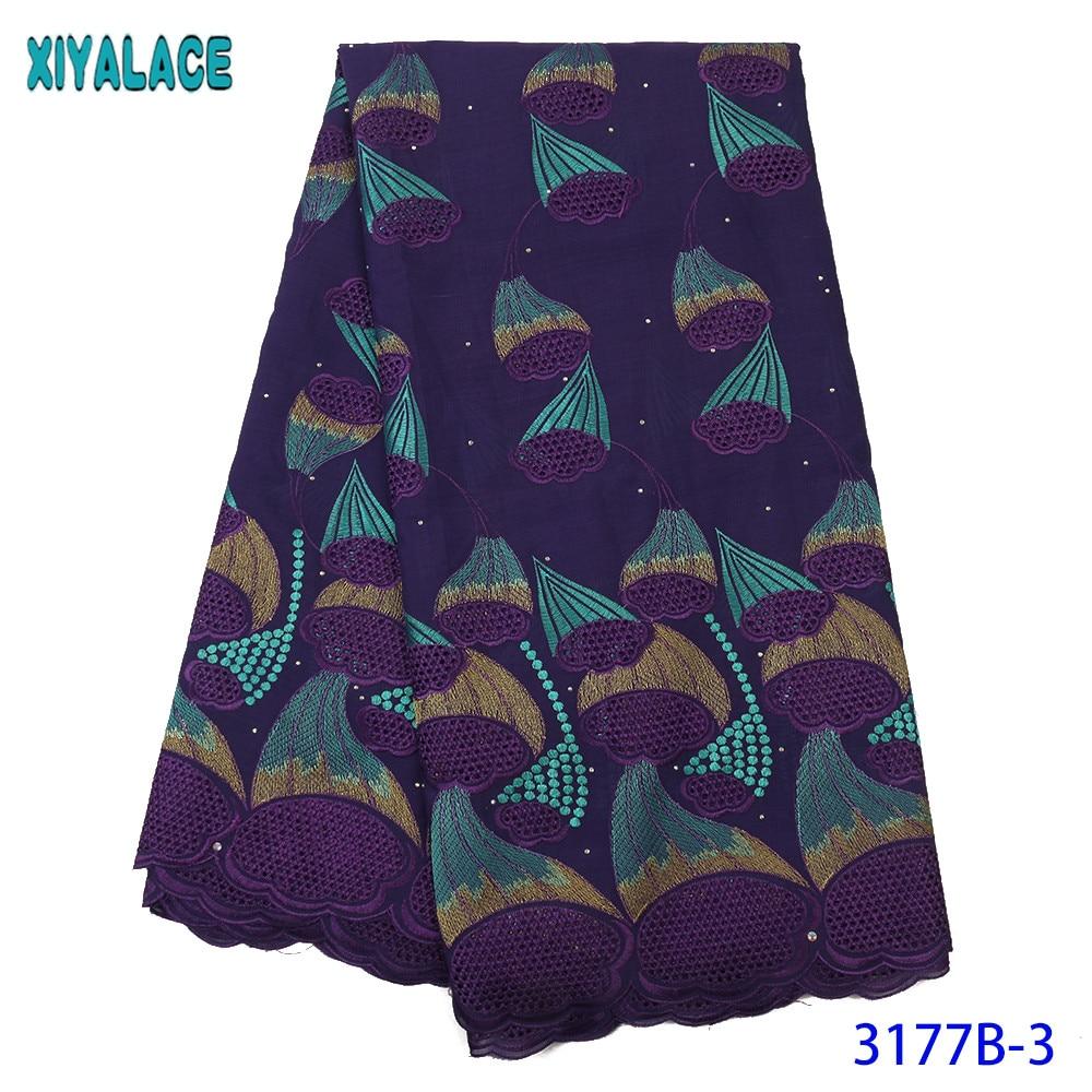 Hot Sale Dry Lace Fabrics High Quality Cotton Lace Fabric Nigerian Lace Fabrics African Dresses For Women KS3177B