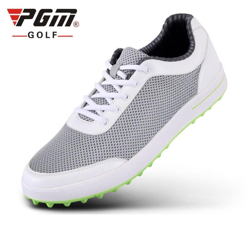 Sapatos de Golfe Tênis de Golfe Rendas até Esportes Homens Leve Malha Respirável Homem Sapatos Atléticos Formadores Treinamento D0349 Pgm