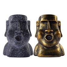 Novelty Easter Island Moai Humidifier Stone Statue Easter Island Portrait Stone Humidifier Home Desktop Aromatherapy pleasant