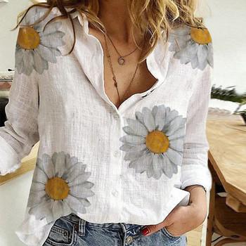 40 # damska bluzka luźna koszulka z nadrukiem długa koszulka z dekoltem w serek bawełna lniana damska bluzka z długim rękawem bluzka Streetwear футболки tanie i dobre opinie Poliester CN (pochodzenie) Wiosna jesień REGULAR Osób w wieku 18-35 lat Skręcić w dół kołnierz NONE Pełna Na co dzień