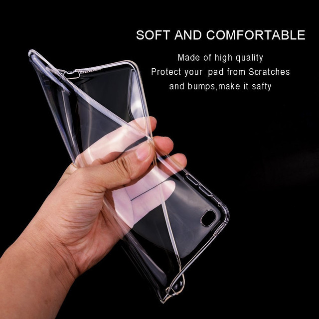 For iPad Mini 4 Case, Flexible Soft Transparent TPU silicone Back Cover for Apple iPad Case Mini 4 Shockproof Tablet A1538 A1550