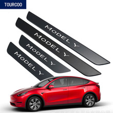 Car Styling Door Sill Pedals for Tesla Model Y Stainless Steel Modification Accessories