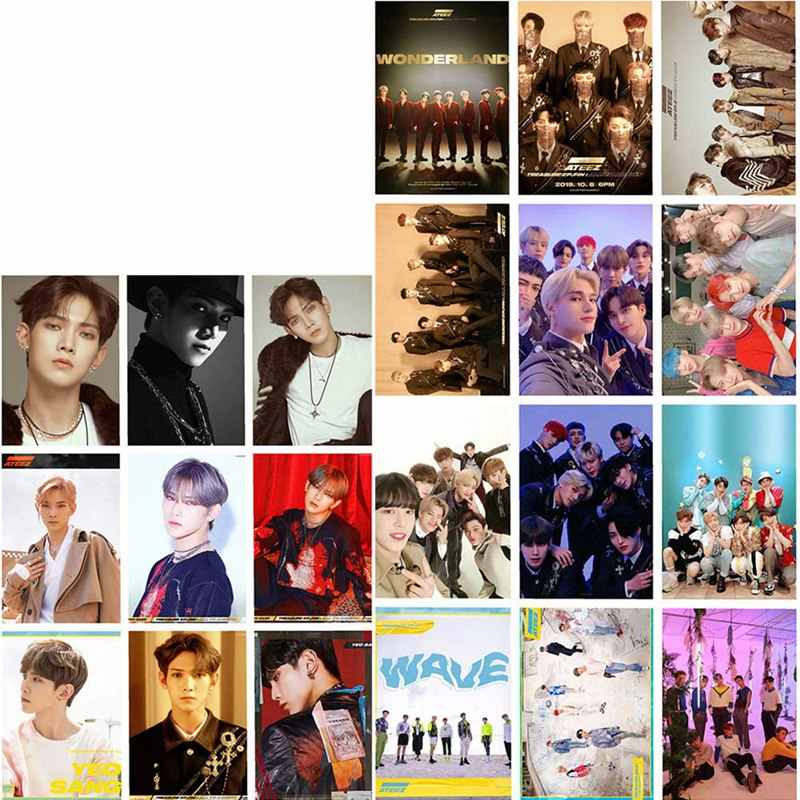 16 Pz/set di Alta Qualità Kpop Ateez Nuovo Album Yeo Cantato Mingi La Raccolta Hd Photo Carta di Carte in Pvc Self Made carta di Lomo Tesserino