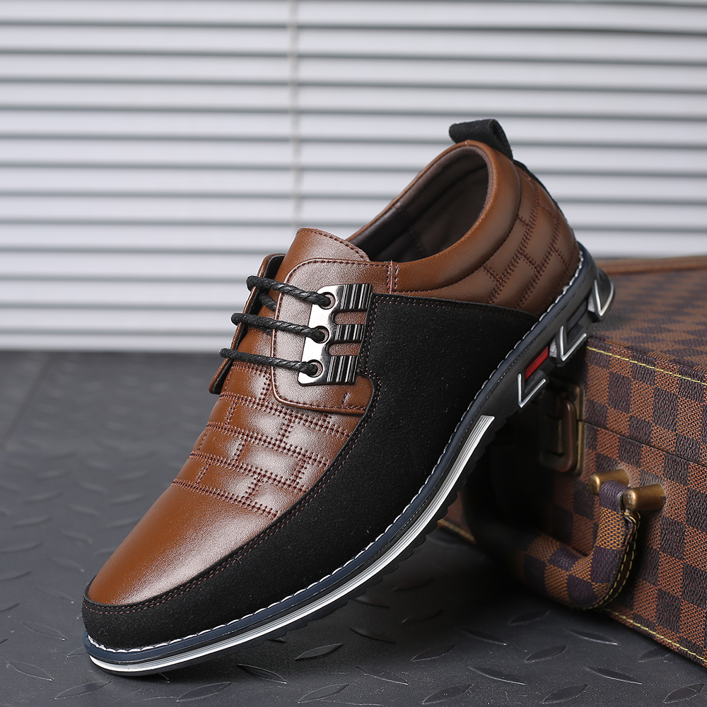 Oxfords Leather Men Casual Shoes Big