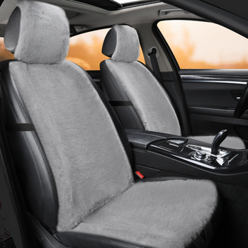 Plush Car Seat Cover Front Backrest Cushion Non Slide Auto Accessories Universa Seat Protector Mat Pad Keep Warm in Winter image