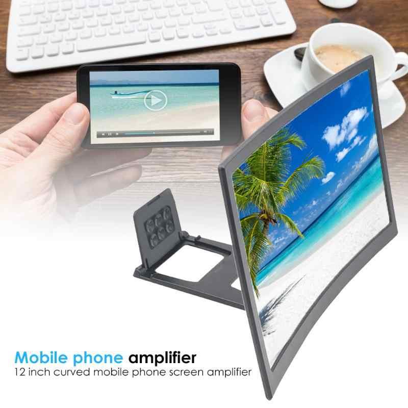 """12 Inch Mobiele Telefoon 3D Screen Video Vergrootglas 8/9 """"Vouwen Gebogen Vergroot Smartphone Film Amplifying Projector Stand Beugel"""