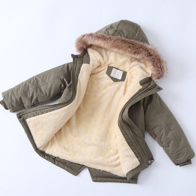 Winter Fleece Jackets For Boys Trench Children's Hooded Warm Kids Boy Outerwear Windbreaker Baby Kids Jacket for girls Coats 3
