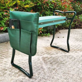 Folding Garden Kneeler and Seat with Tool Pouches EVA Foam Pad Protects Your Knees Sturdy Lightweight Planting - discount item  40% OFF Outdoor Furniture
