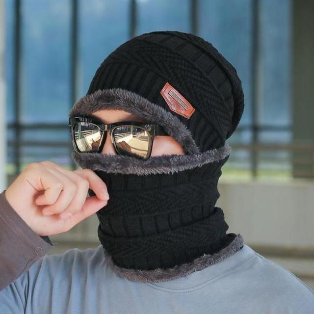 COKK Winter Beanie Hat For Men Knitted Hat Winter Cap Beanie Women Thick Wool Neck Scarf Cap Balaclava Mask Bonnet Hats Gorras 1