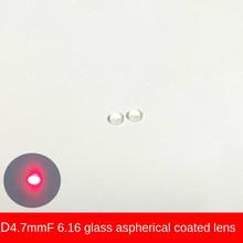 D4.7 Focal Length 6.16 Laser Module Glass Aspherical Collimation Coating Optical Lens Focusing Lenses Emission Tube