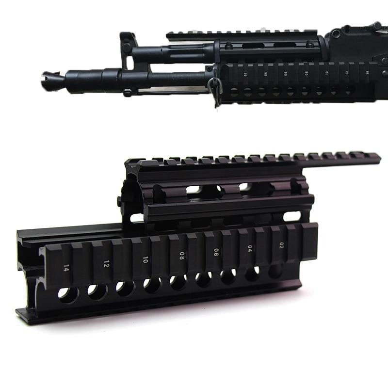 Quad Rail Mount Handguard Rail 20mm Picatinny Scope Side Sight Light Mount For AK47 74 AKS AKM Rail Covers Hunting Accessories