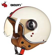 BEON Motorcycle Helmet Chopper 3/4 Open Face Vintage Helmet